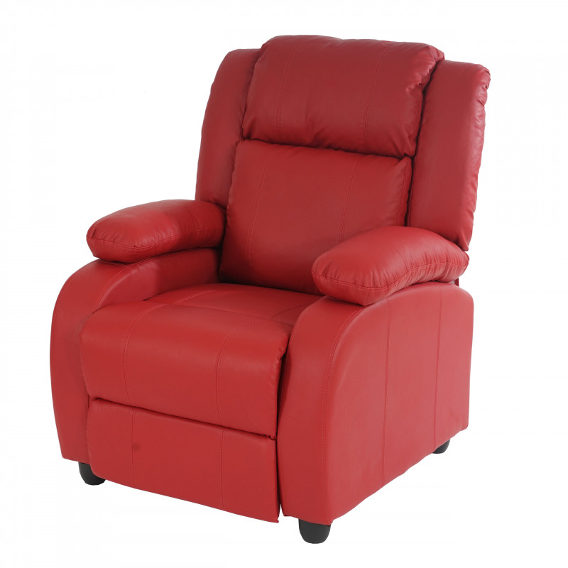 Fauteuil inclinable de salon yvonnes red