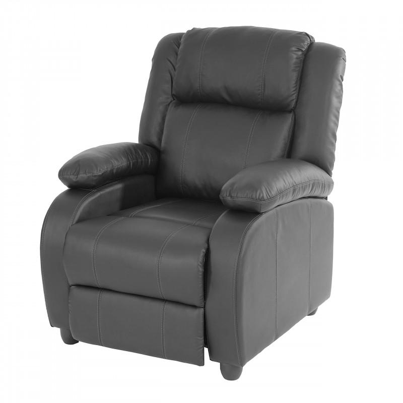 Fauteuil de télévision fauteuil relax, simili cuir balou noir