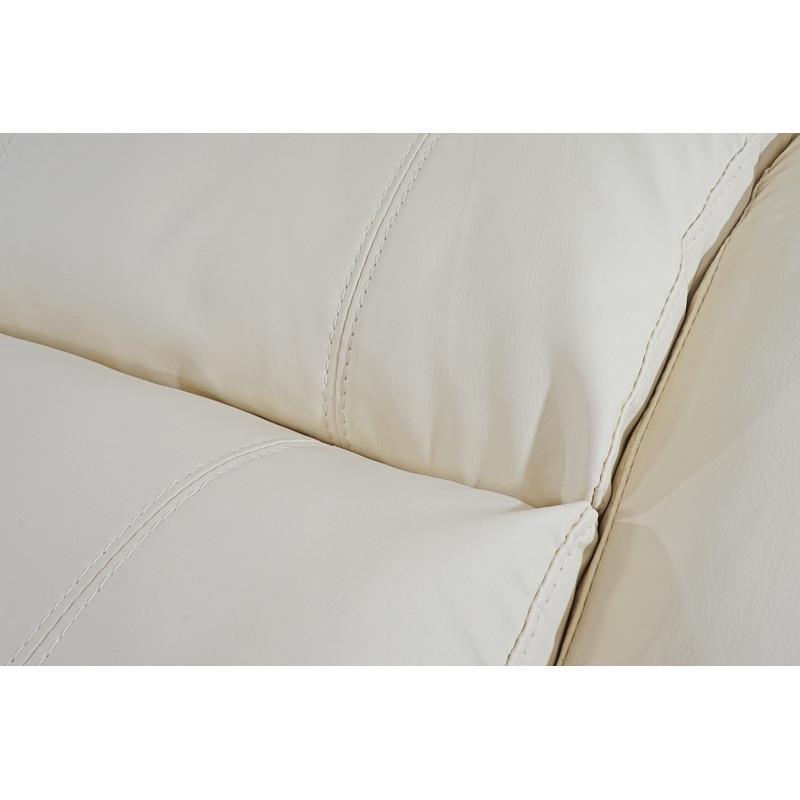 Fauteuil relax en simili cuir clarisse crème
