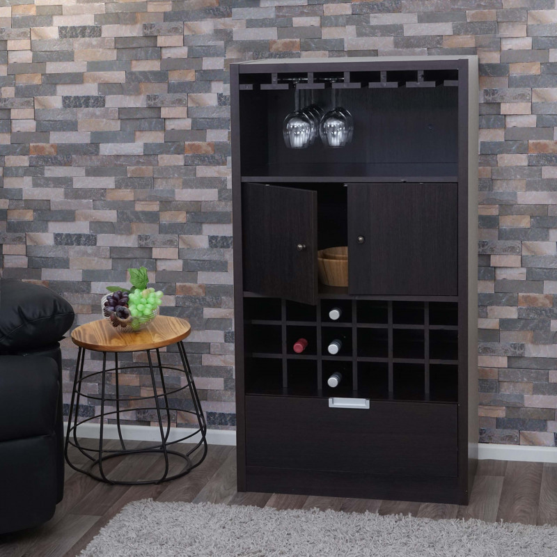 Armoire à vin brun espresso