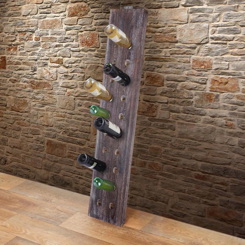 Porte-bouteilles pour 20 bouteilles, shabby-look vintage – brun