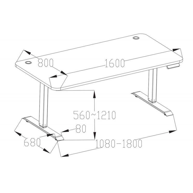 Table de travail design bergen