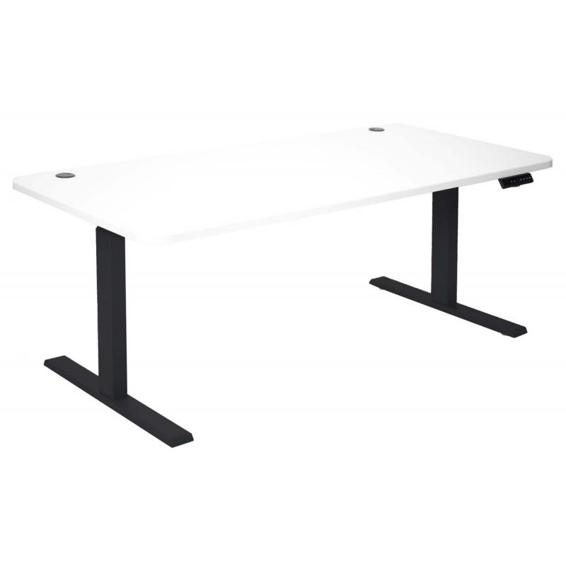 Bureau d'ordinateur mirai blanc et noir