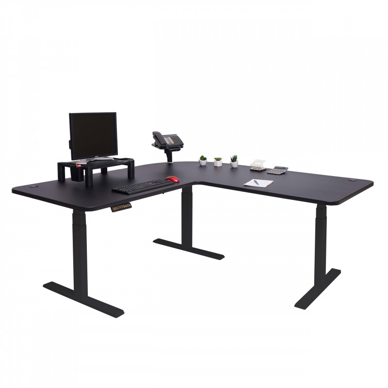 Bureau d'ordinateur réglable en hauteur sekkei noir