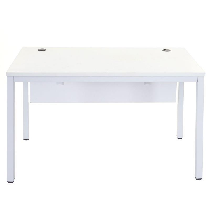 Bureau d'ordinateur blanc 76x120x60cm
