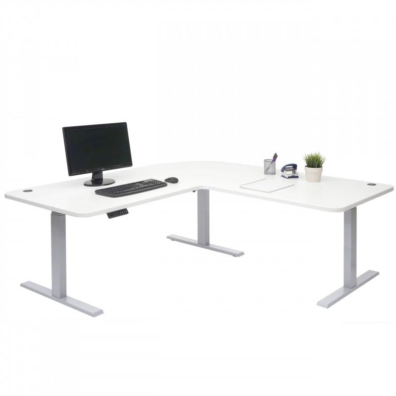 Bureau informatique kelly blanc, gris