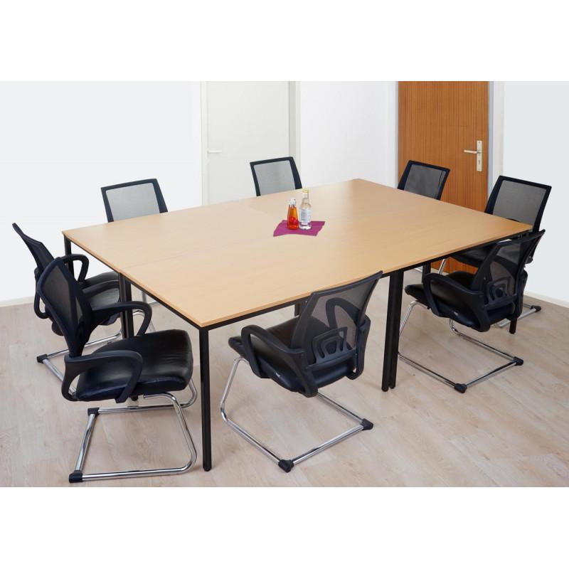 Table de conférence agathe beech-look