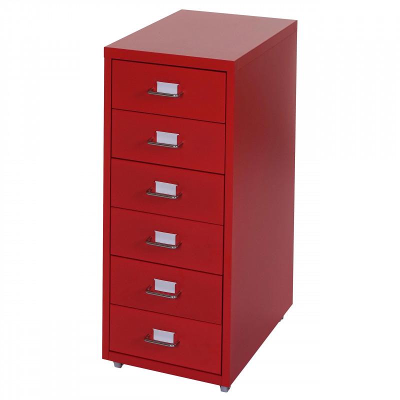 Armoire à tiroirs sedona rouge