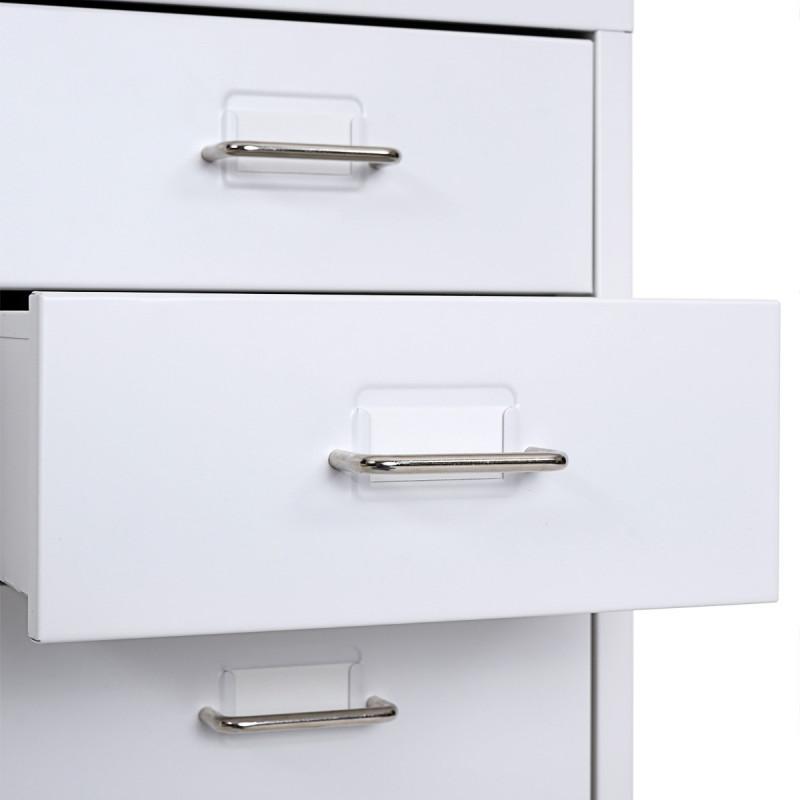 Armoire à tiroirs en acier naomi blanc