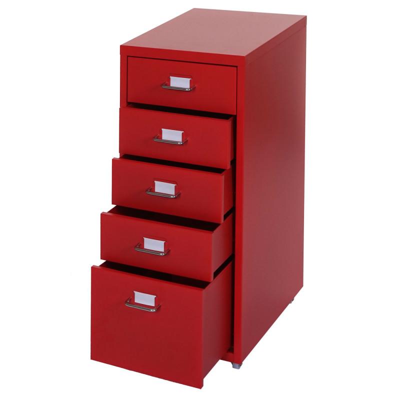 Armoire à tiroirs alexander en acier rouge