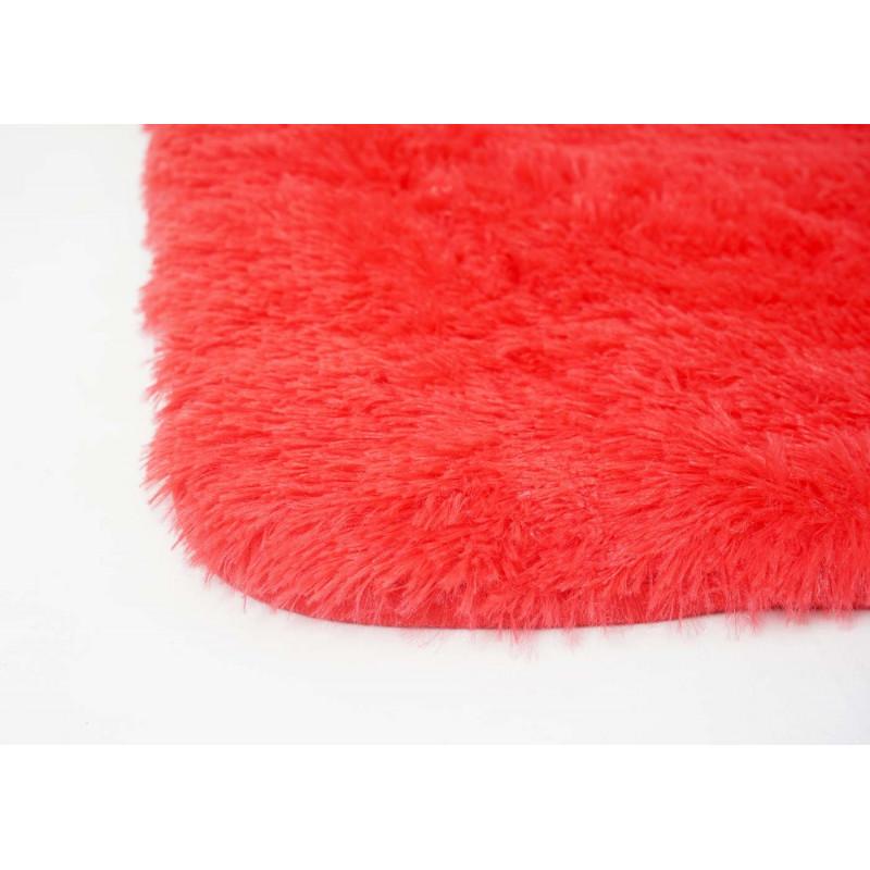 Tapis à poils longs lala rouge
