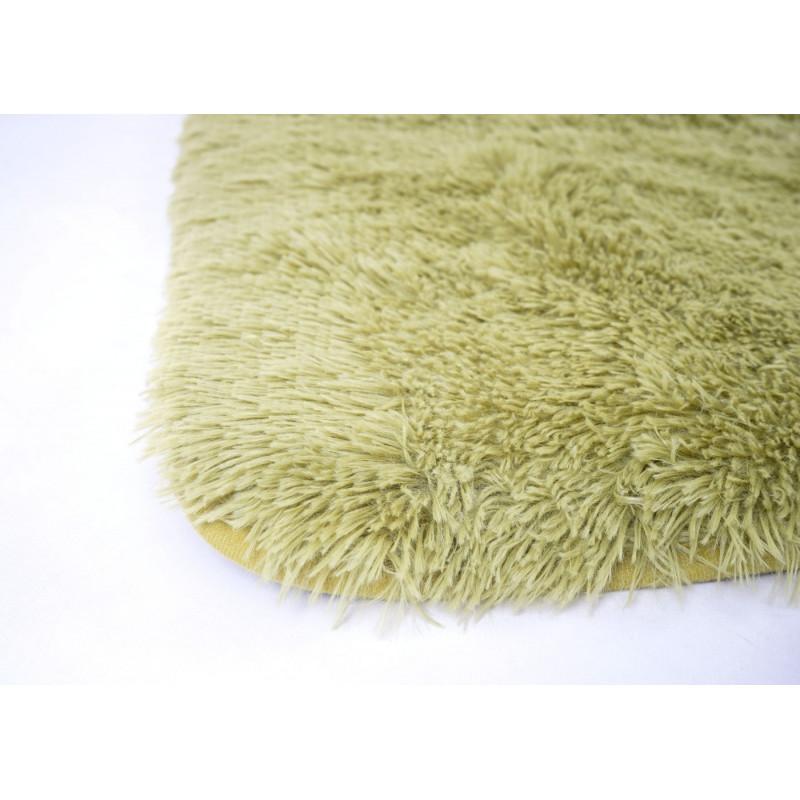 Tapis  vert charlotte a poils longs
