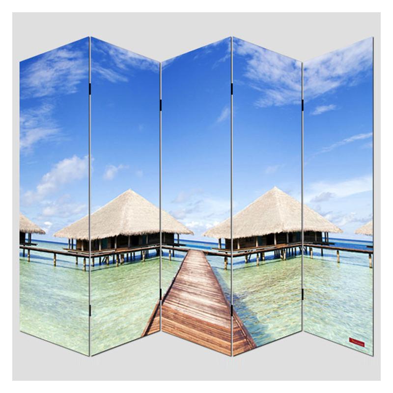 Paravent photo cloison de séparation de salle - 180 x 200cm