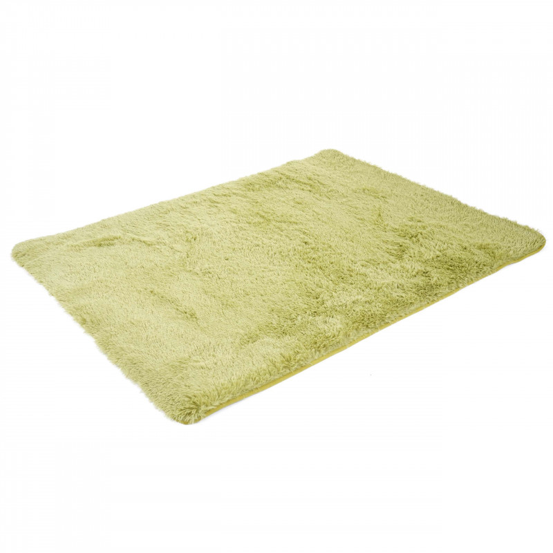 Tapis coureur à poils longs design home vert