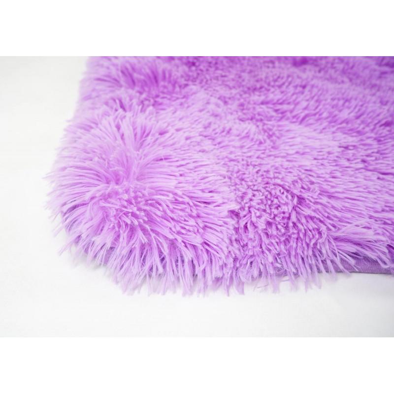 Tapis coureur à poils longs soft  violet