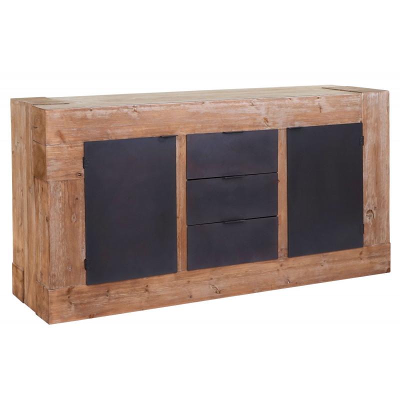 Armoire à tiroirs buffet en bois de sapin massif deklik