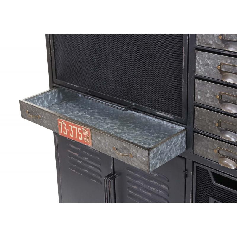 Meuble à tiroirs metalika au design industriel