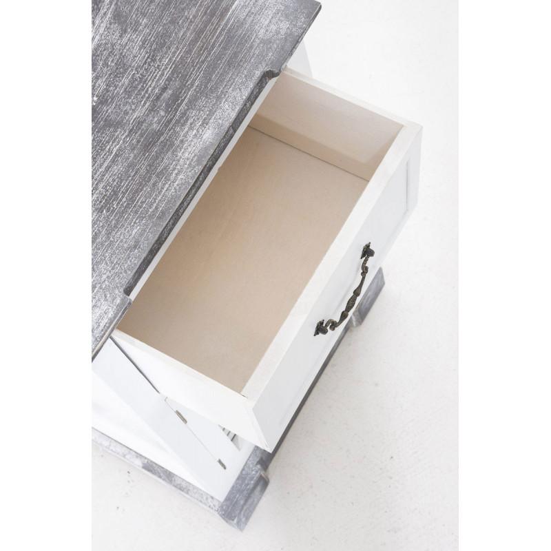 Table de chevet xoxo blanc