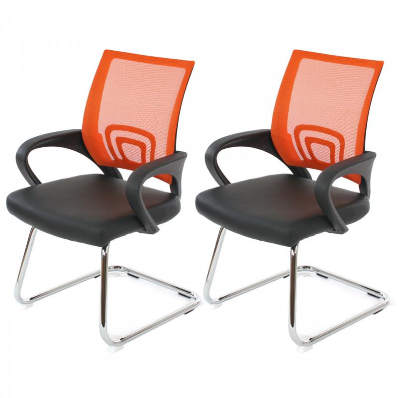 Paire de chaise de conférence rania orange