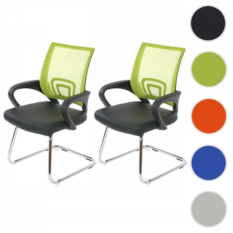 Paire de chaise de conférence cassi vert