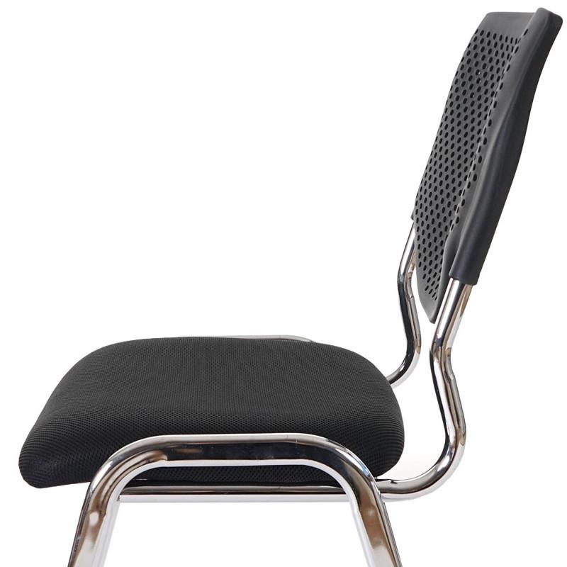2 chaises de conférence empilable misty black