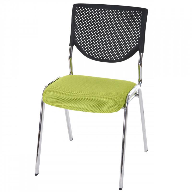 4 chaises de conférence empilable fluor vert