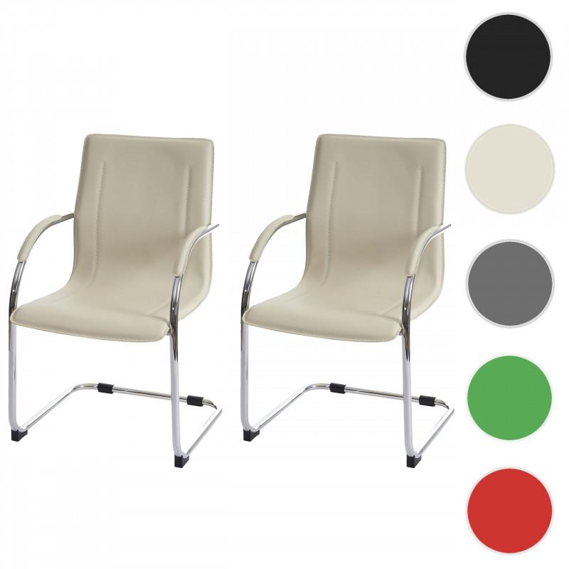 Paire de chaise de conférence nadia crème