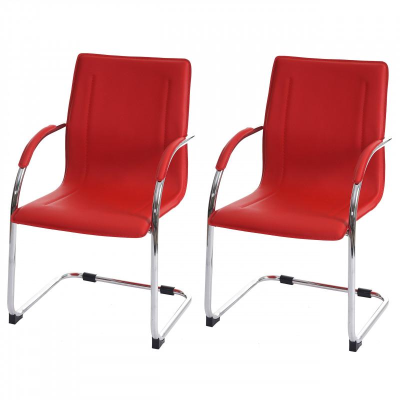 Chaise de conférence elegante en pvc