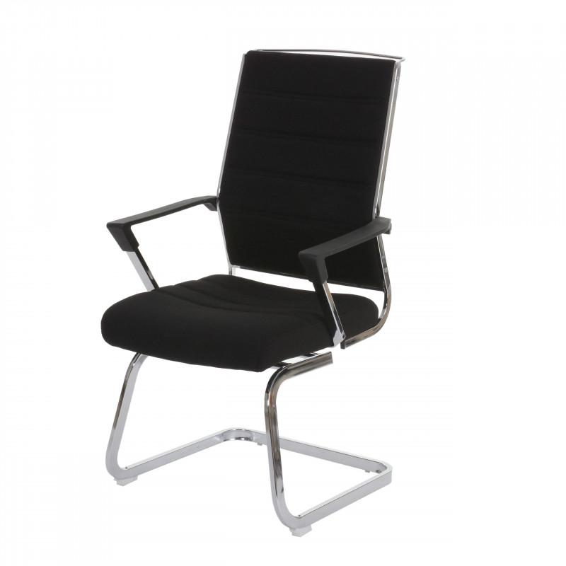 Lot de deux chaises meeting pivotantes en textile noir