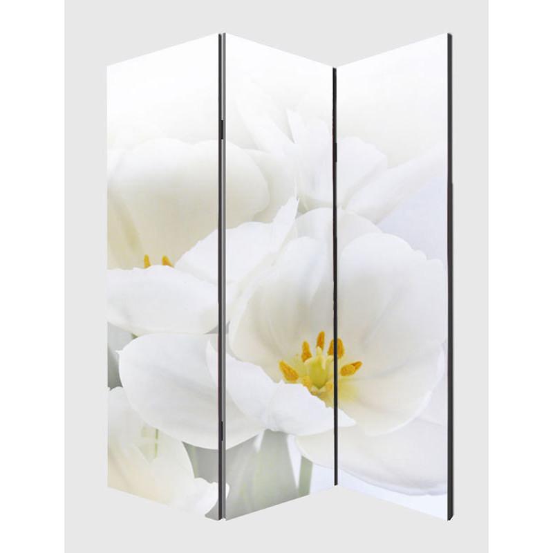 Photo écran paravent cloison de séparation de la salle ~ 180x120cm, orchidée