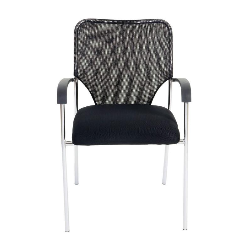 Lot de 2 chaises de visiteur leo, modèle noir