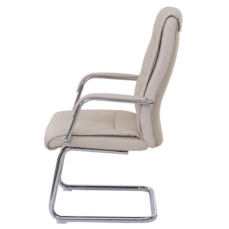 Lot de 2 chaises de visiteur bridgestone en similicuir crème