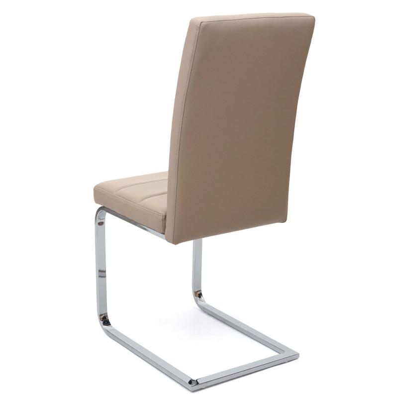 Lot de 2 chaises de conférence leon en similicuir blanc