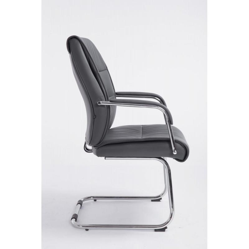 Chaise de conférence socitis cuir gris
