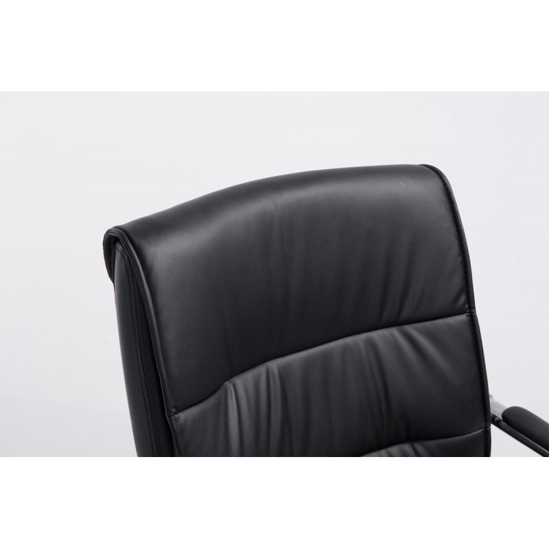 Chaise de conférence elegantos cuir noir