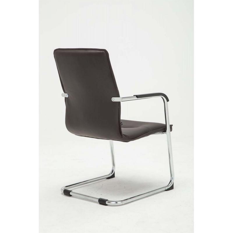 Chaise de visiteur cantilever dezyn en simili cuir