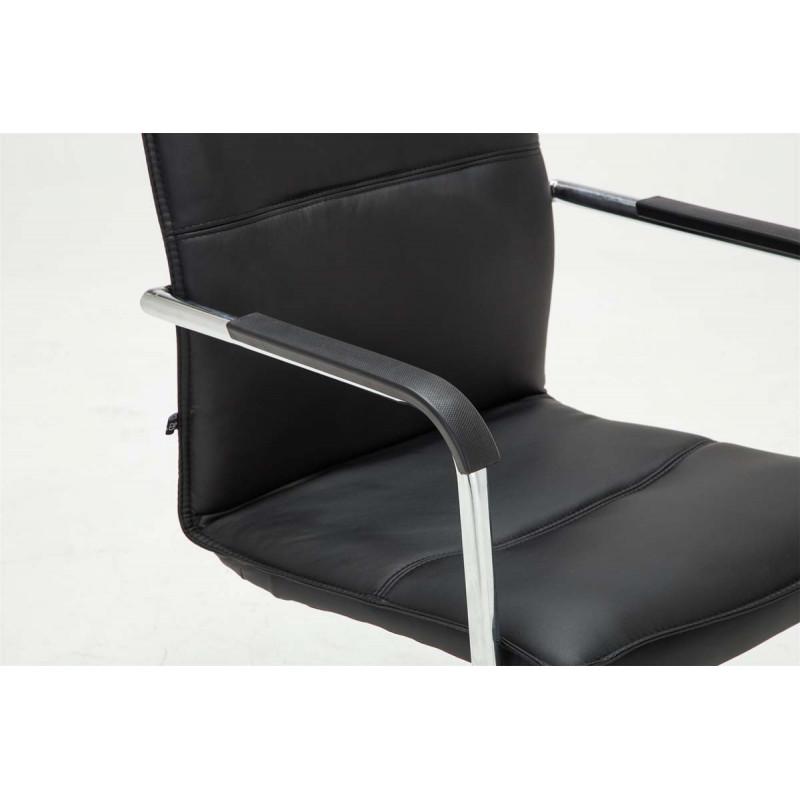 Chaise visiteur nella noir