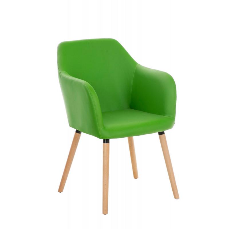 Chaise de conférence extazia en simili imitation cuir vert