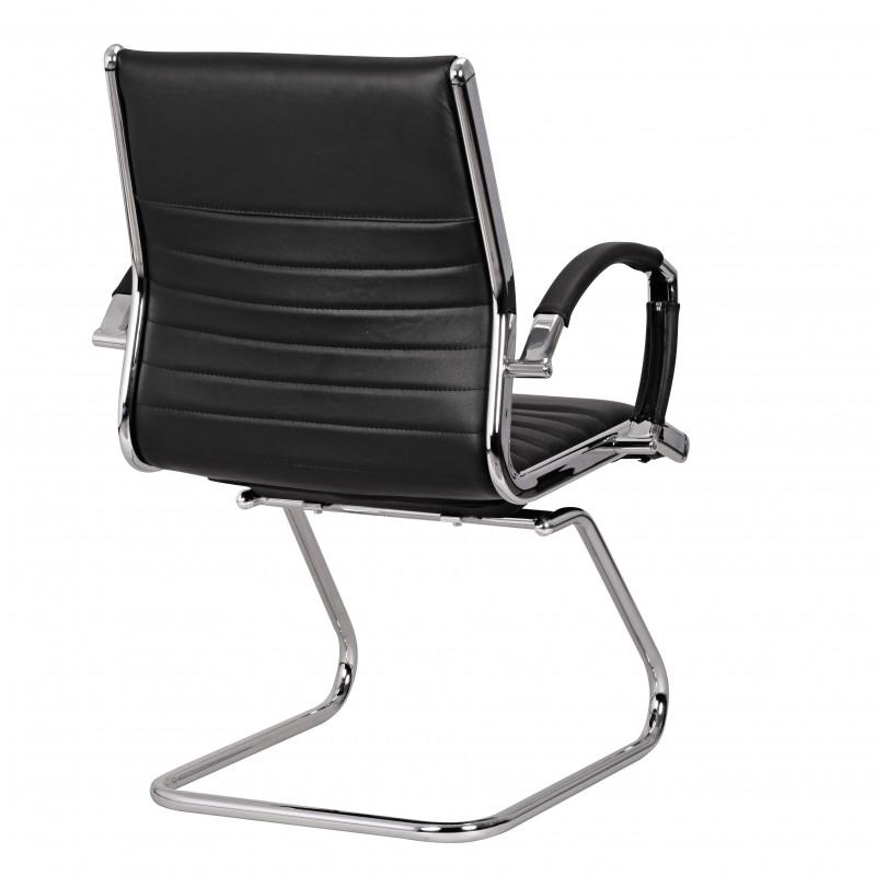 Chaise de conférence/visiteur madman en cuir