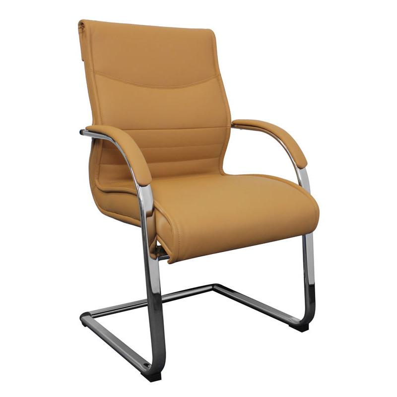 Chaise de conférence light caramel