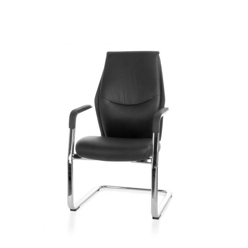 Chaise de visiteur/conférence healthy en cuir véritable