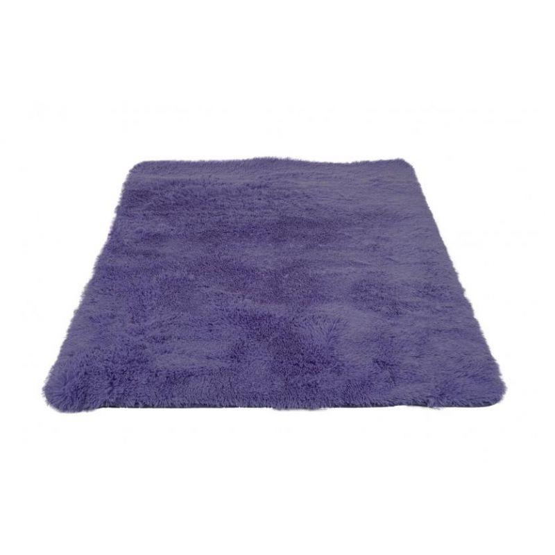 Tapis à poils longs aztek  violet foncé