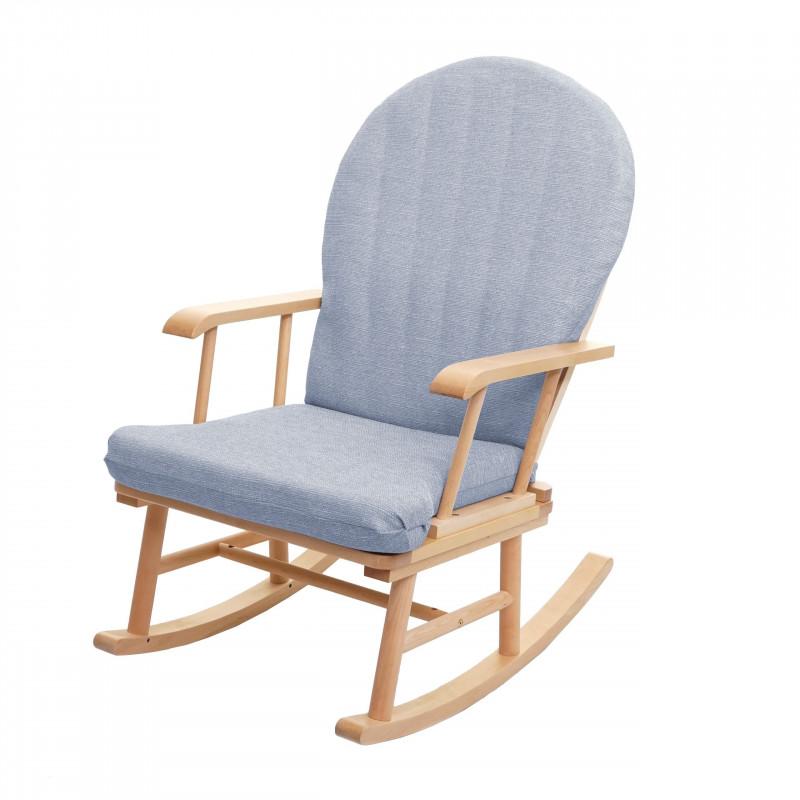 Chaise à bascule océan gris en bois massif