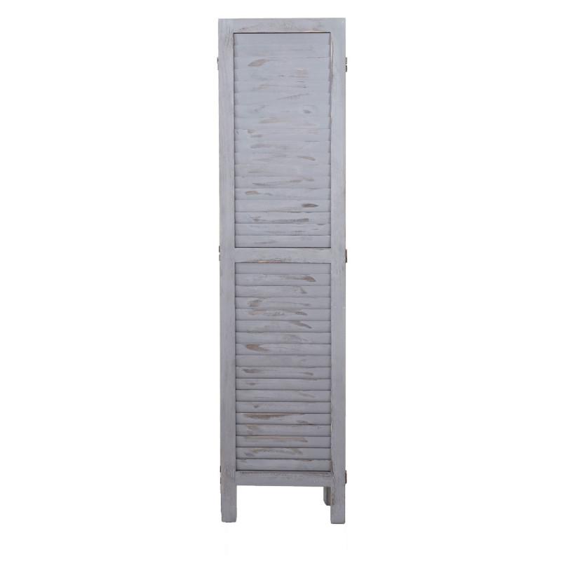 Paravent d'intérieur en paulownia massif 170x160cm gris foncé