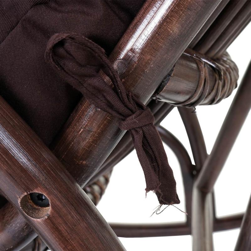 Fauteuil à bascule en rotin marron hitckock