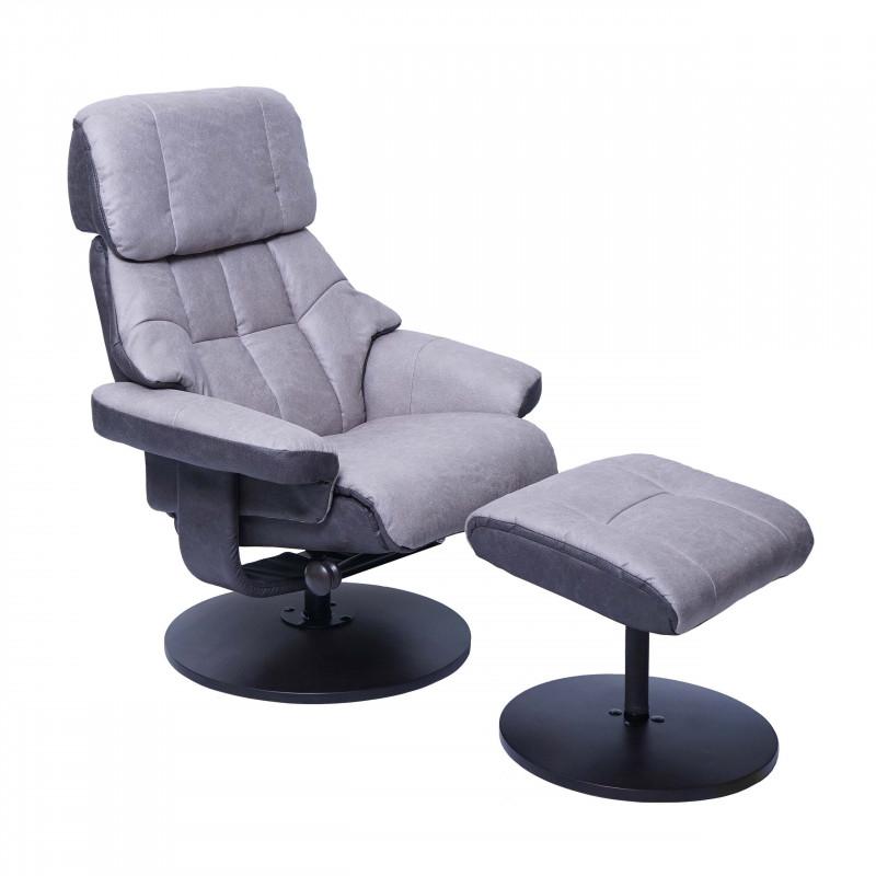 Fauteuil relax avec tabouret design et confort vincent