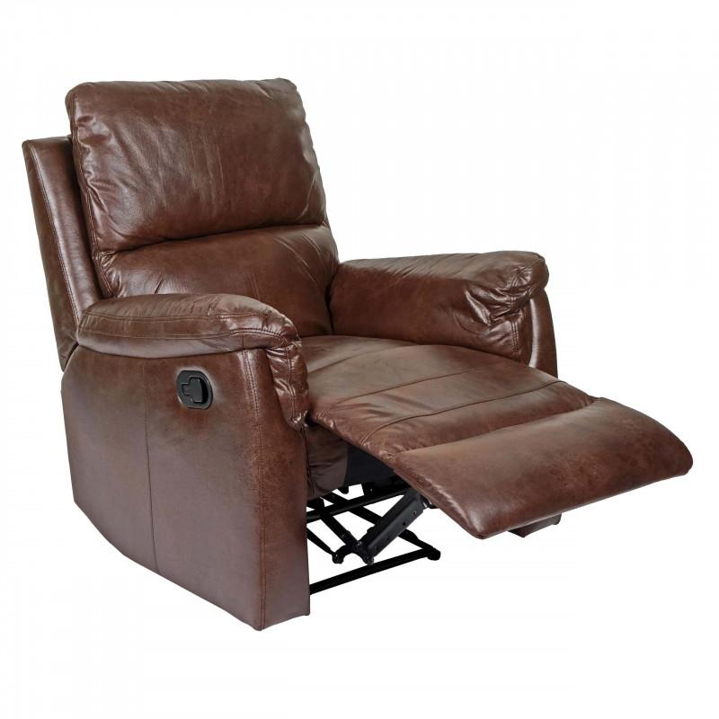 Fauteuil de salon relax jacques marron