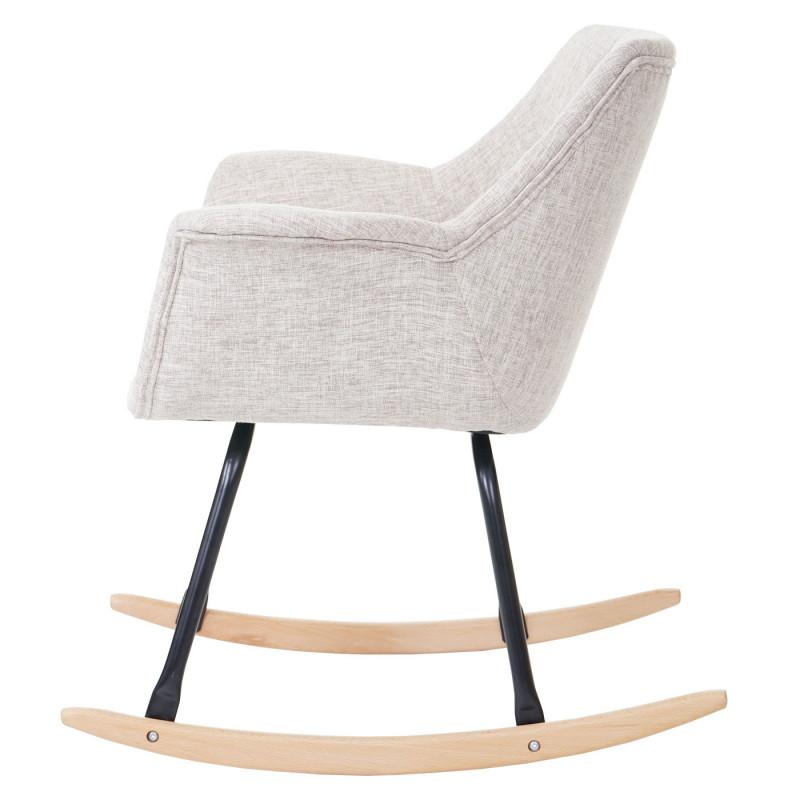 Rocking chair crème et gris dallas