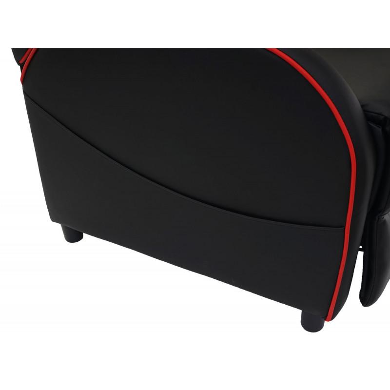Fauteuil de télévision simili cuir - hwe racer noir/rouge
