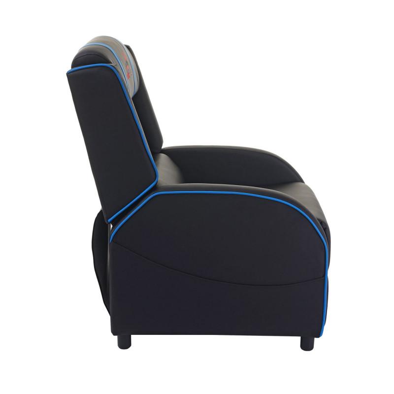 Fauteuil de jeu darkblue- noir et bleu